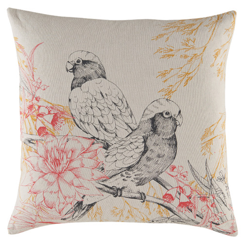 Kas Birdo Square Cotton Cushion