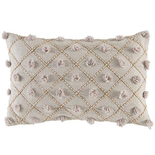 Kas Natural Malawa Lattice Cotton Cushion