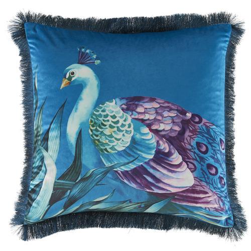 Kas Peacock Pavo Velvet Cushion
