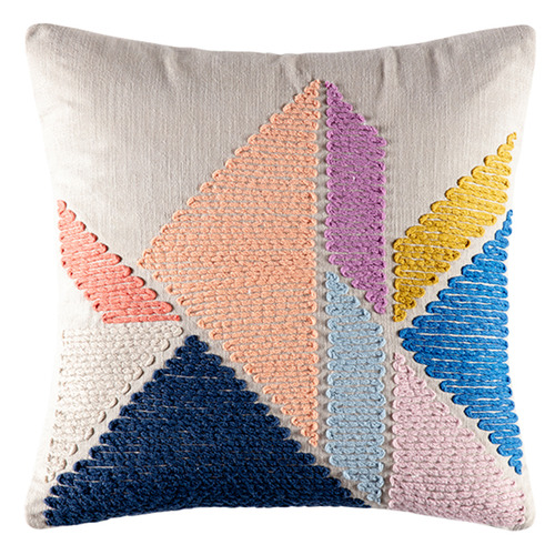 Kas Geometric Mod Cotton Cushion