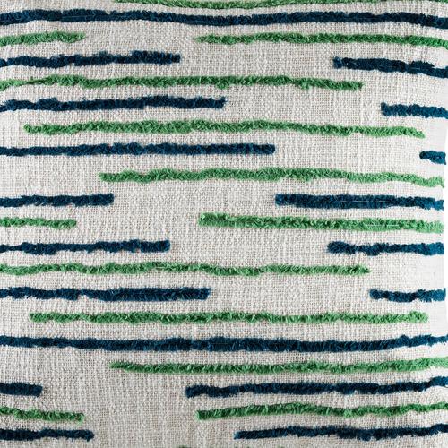 Kas Green Horizon Cotton Cushion