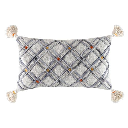 Kas Natural Zinna Wool-Blend Cushion