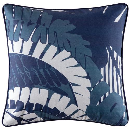 Navy Moki Cotton Outdoor Cushion
