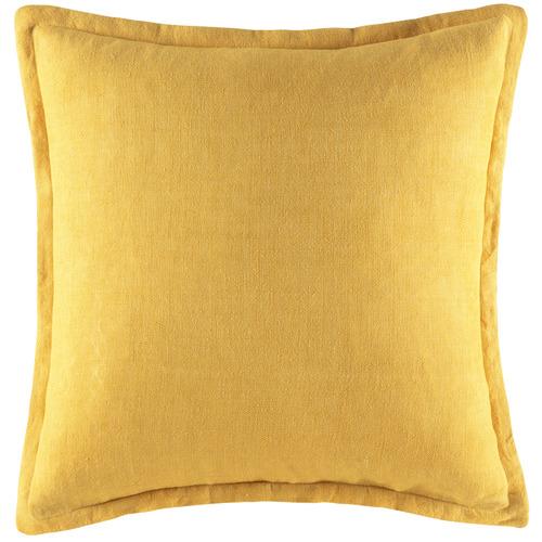 Kas Yellow Tailored Linen Cushion