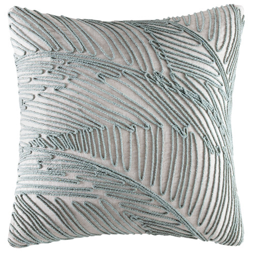 Sage String Palm Linen-Blend Cushion