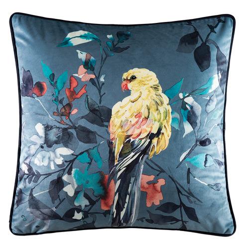 Kas Navy Paramour Velvet Cushion
