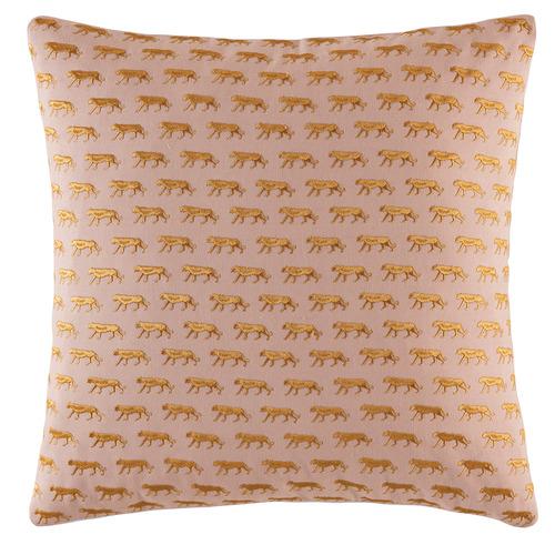 Kas Blush Mini Tiger Cotton Cushion