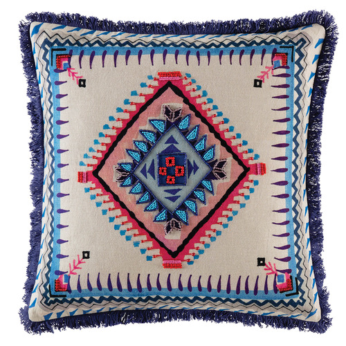 Kas Multi-Coloured Matcho Cotton Cushion