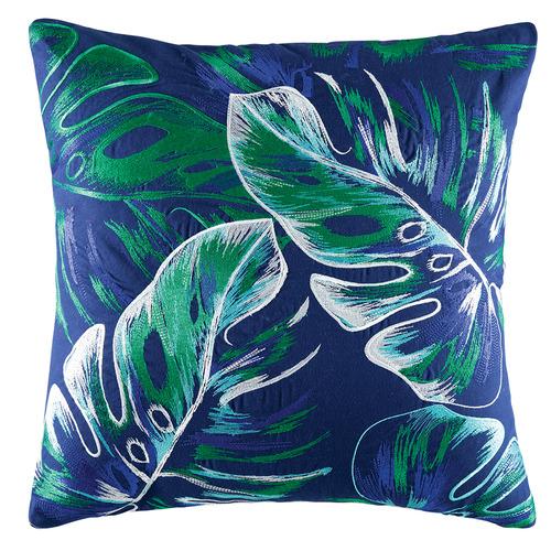 Kas Teal Molokai Cotton Cushion