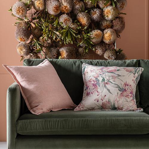 Kas Floral Ophelia Linen-Blend Cushion