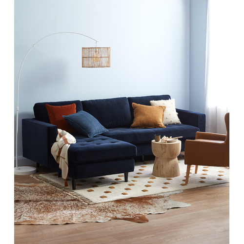 Kas Indigo Tailored Linen Cushion