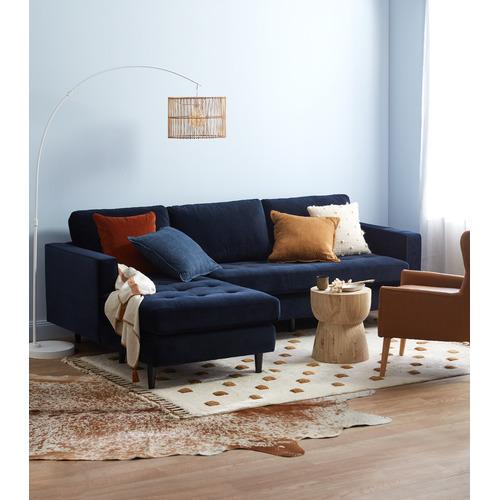 Kas Mustard Square Linen Cushion