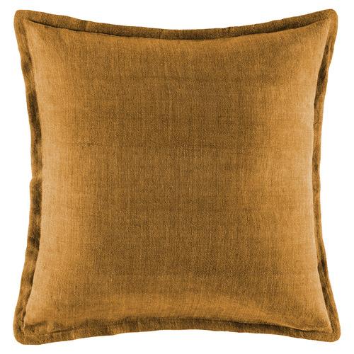 Mustard Square Linen Cushion