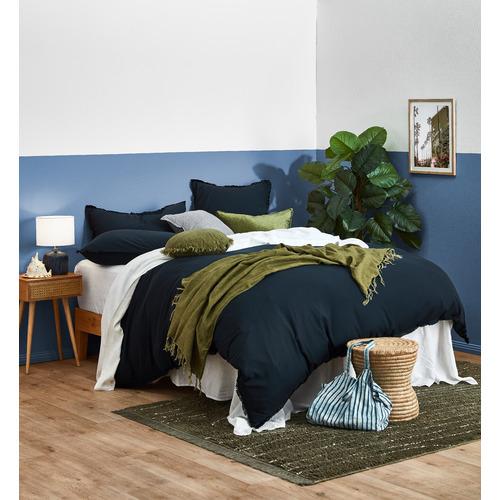 Sage Tailored Linen Cushion