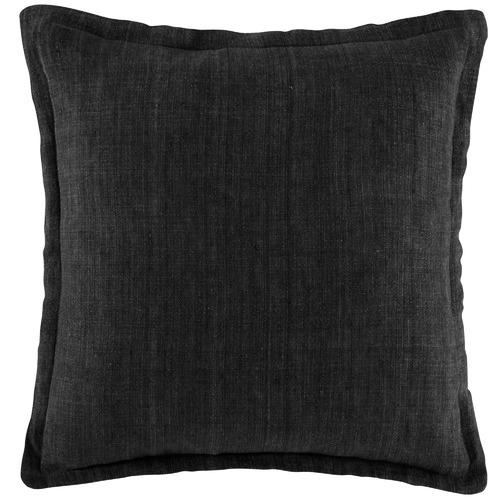Kas Black Linen Cushion