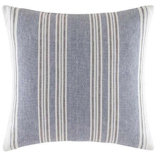 Kas Blue & White Salton Cotton Cushion