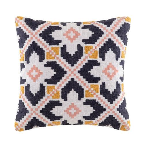 Kas Multi-Coloured Kana Cotton Cushion