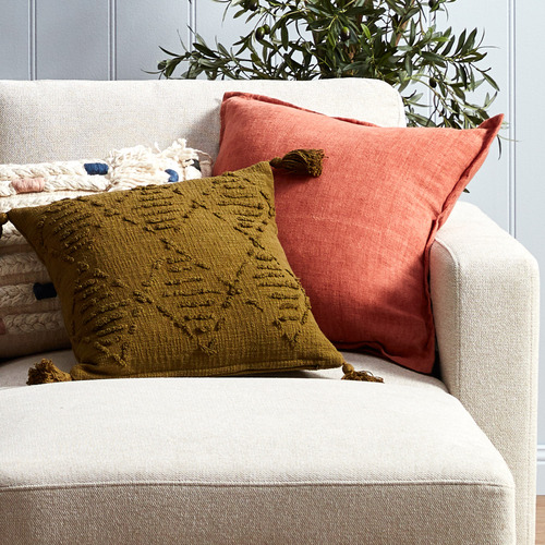 Kas Clay Tailored Linen Cushion