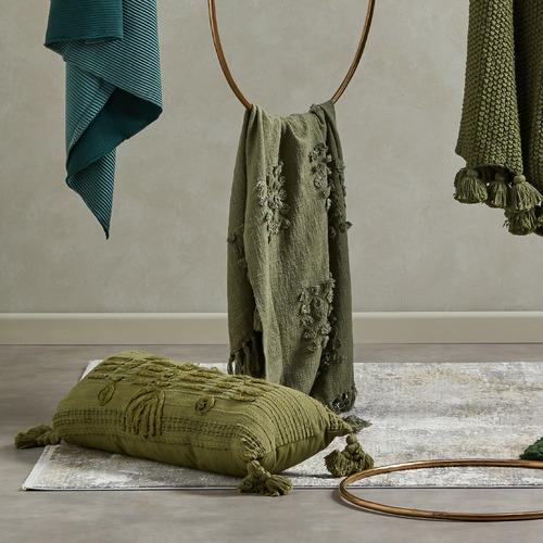 Kas Tasselled Romy Cotton-Blend Cushion