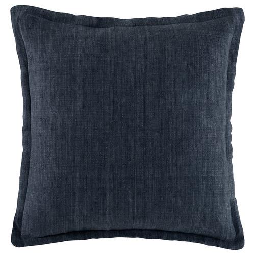 Indigo Tailored Linen Cushion