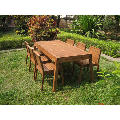Pacific Outdoor Furniture Belmont 7 Piece Acacia Outdoor Dining Set
