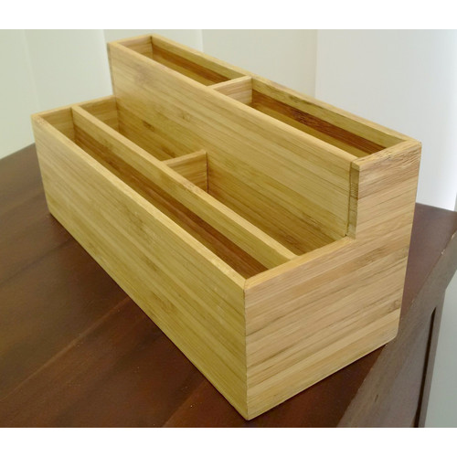 Bamboo desk organiser letter holder temple webster - Bamboo desk organiser ...