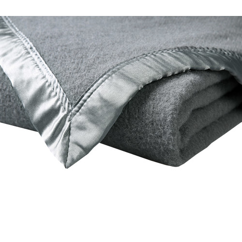 Accessorize Grey Australian Washable Wool Blanket