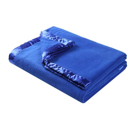 Accessorize Navy Double Layer Polar Fleece Blanket