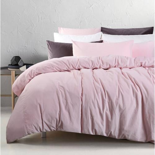 Accessorize Blush Cotton Velvet Quilt Cover Set