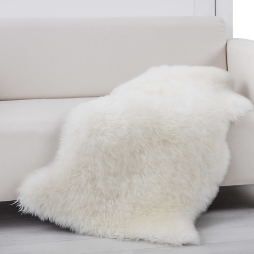 Accessorize Real Wool Natural Skin Rug