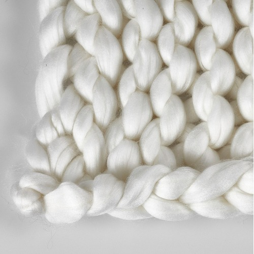 Accessorize Natural Chunky Knit Throw