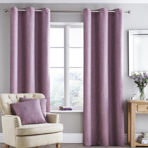 Accessorize Mauve Vermont Eyelet Curtain Set