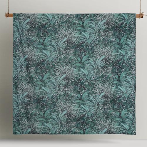 Green Palm Leopard Cotton Quilt Cover Set
