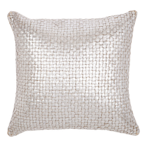 Quayside Trading Silver Plaited Kav Cushion