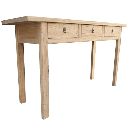 Natural Wood Console Table ~ Natural gansu elm wood console table temple webster