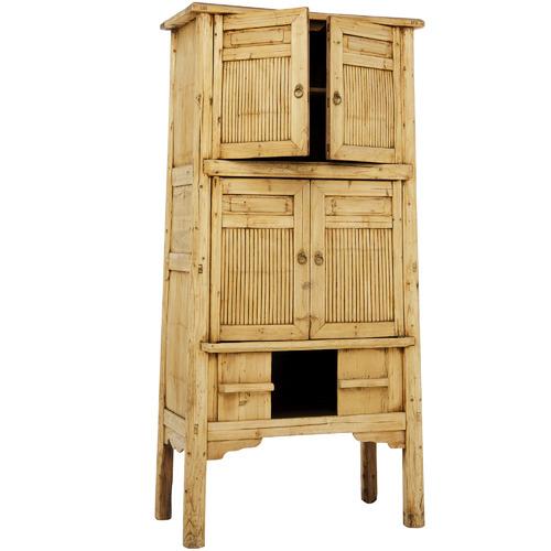 Alexander Santorini Imports Shyam 4 Door Bamboo Cabinet