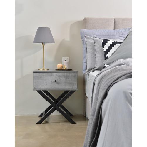 Brooklyn Home Cayla Cross Legged Bedside Table