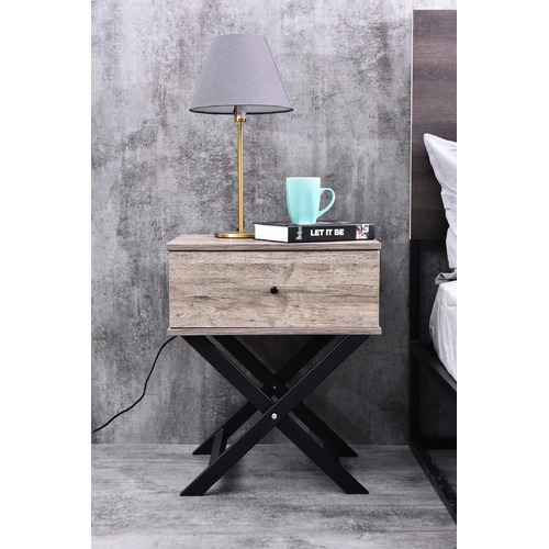 Brooklyn Home Cayla Cross Legged Bedside Table