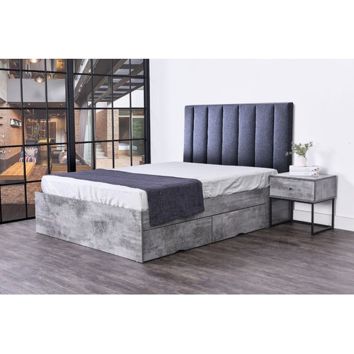 Brooklyn Home Cleo Queen Storage Bed & Martin Bedhead