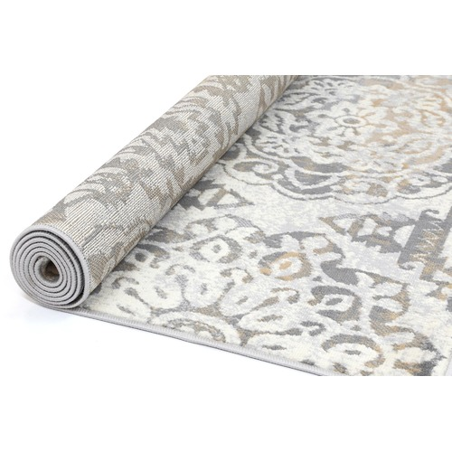 Lifestyle Floors Beige & Light Grey Elise Heartfelt Rug