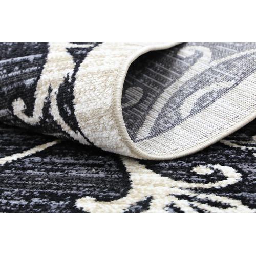 Lifestyle Floors Black Arya Classic Rug