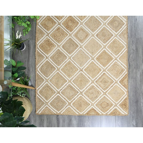 Lifestyle Floors Natural  Parquetry Weave Artisan Contemporary Rug