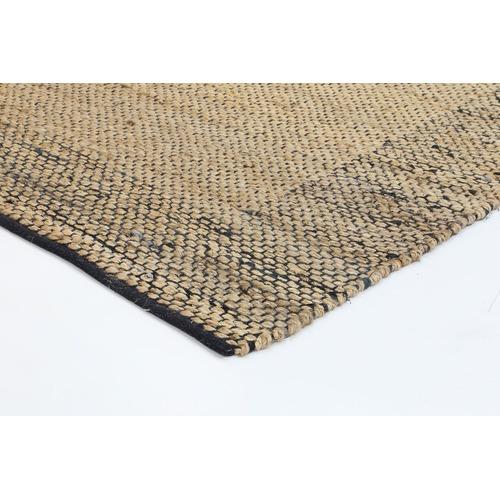 Lifestyle Floors Black Curated Mahal Braided Border Rug