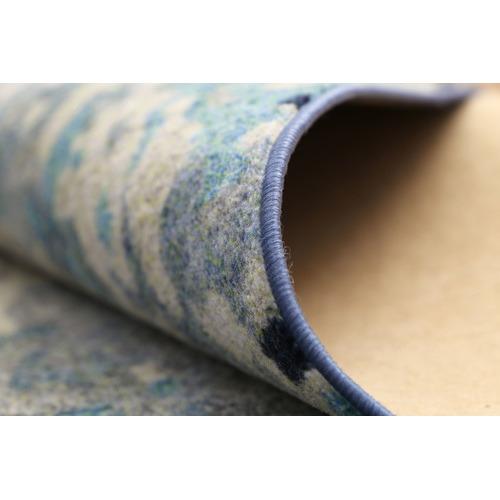Lifestyle Floors Blue Modern Power Loomed Rug
