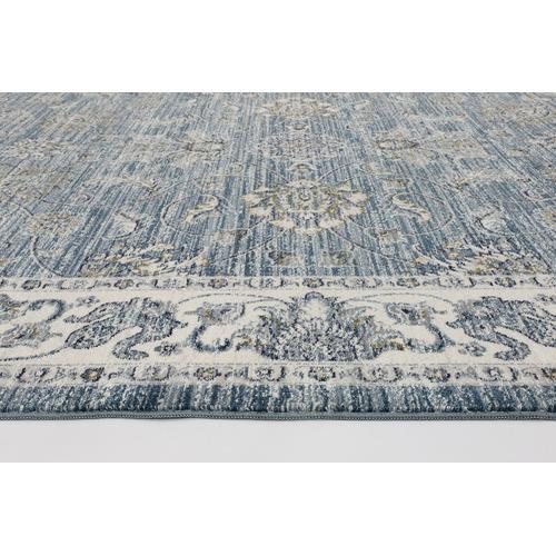 Lifestyle Floors Blue Atlas Border Rug