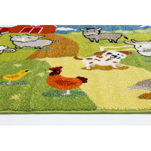 Happy Kids Farm Scene Rug