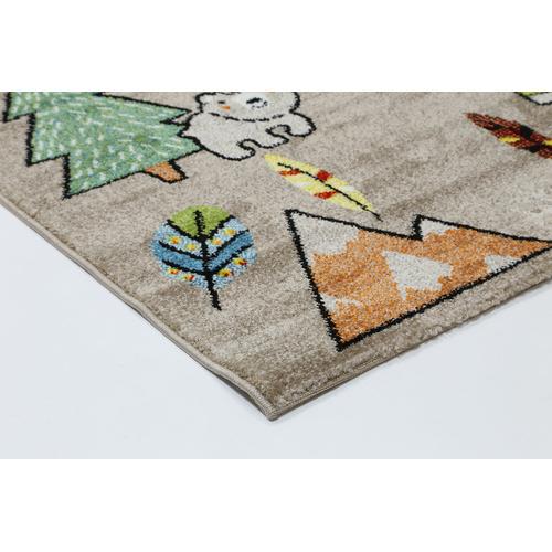 Lifestyle Floors Beige Happy Kids Adventure Rug