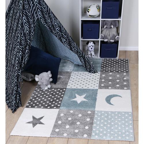 Lifestyle Floors Blue & Grey Happy Kids Rug