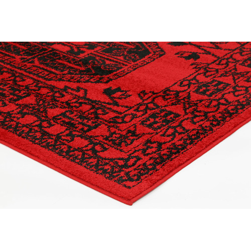 Lifestyle Floors Red Tribute Traditional Afghan Inspired Rug