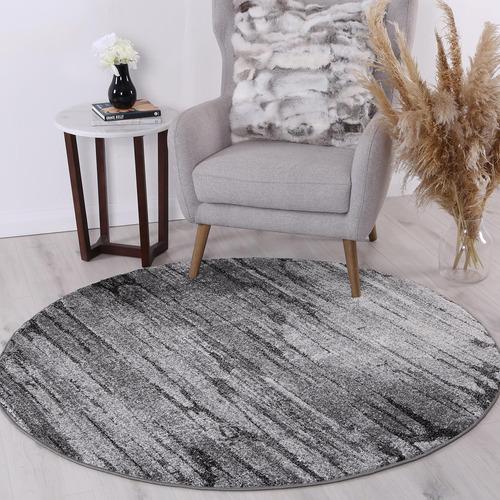 Lifestyle Floors Grey Chello IV Round Rug